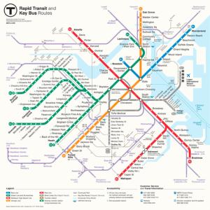 MBTA Map 2013