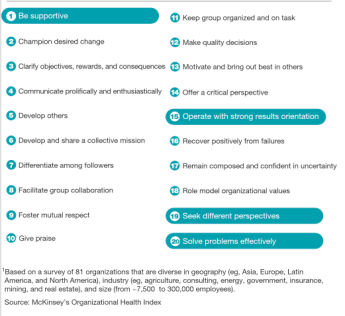 McKinsey Organizational Health Index Top Leadership Qualities